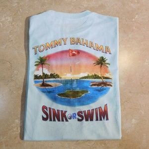 Tommy Bahama Light Blue SINK OR SWIM Cotton Golf T